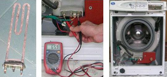 Проверяем ТЭН стиральной машины