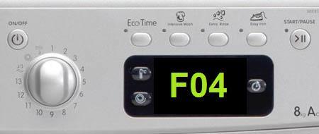 Что означает ошибка F04 в стиральных машинах Индезит