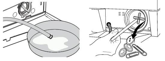Нет слива воды - чистить фильтр